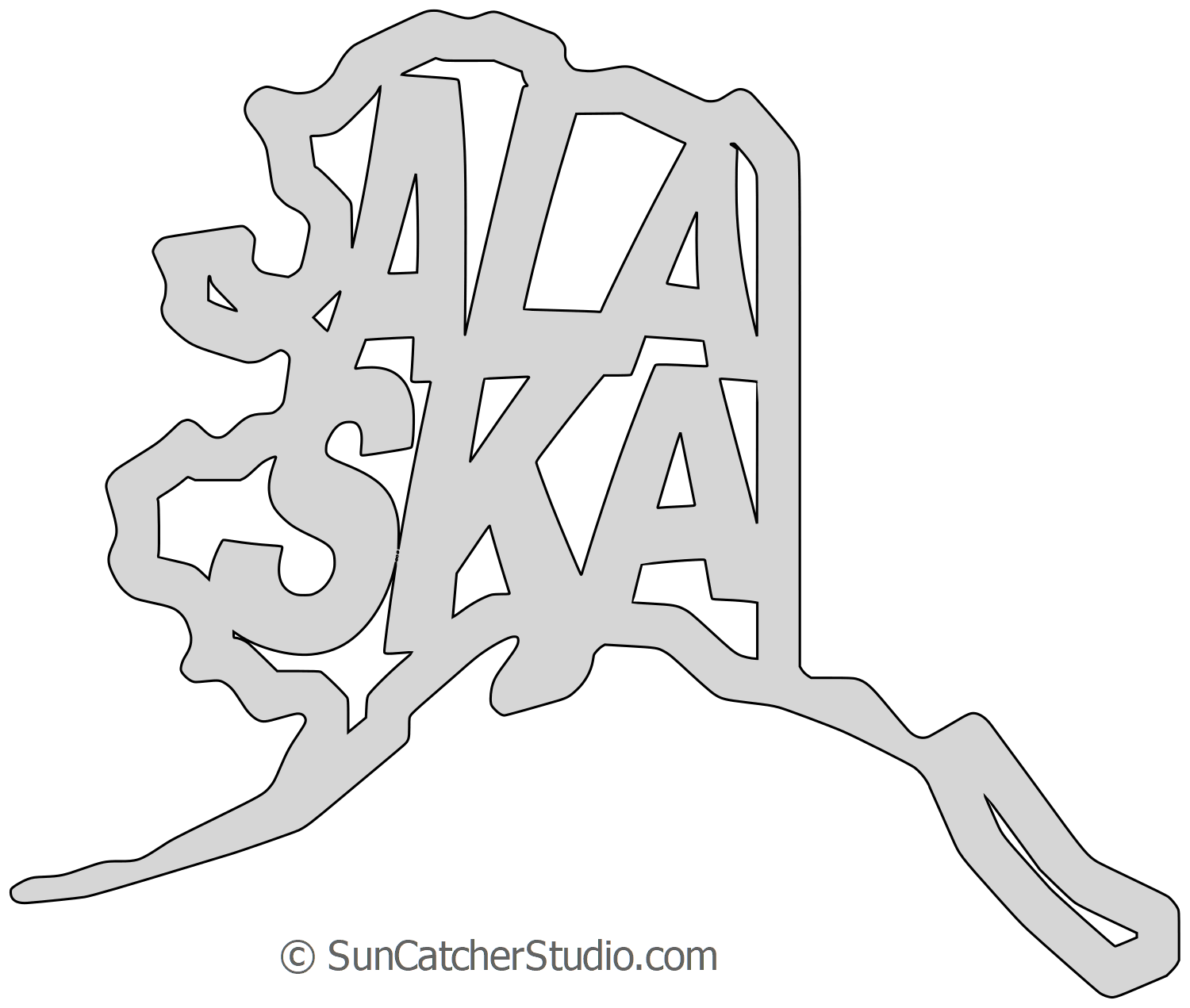States alaska shape clipart picture library Alaska - Map Outline, Printable State, Shape, Stencil ... picture library
