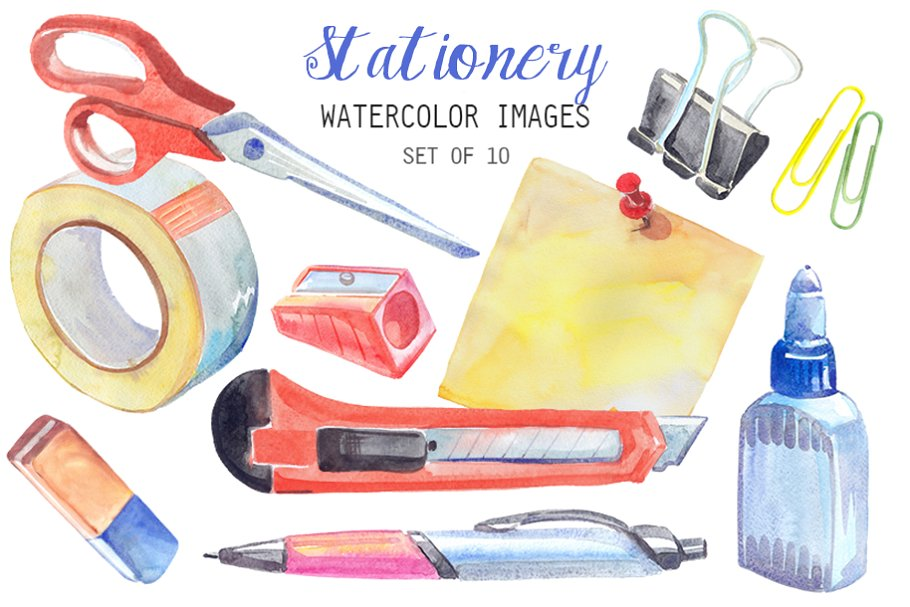 Stationery clipart images picture royalty free download Watercolor Stationery Clipart picture royalty free download
