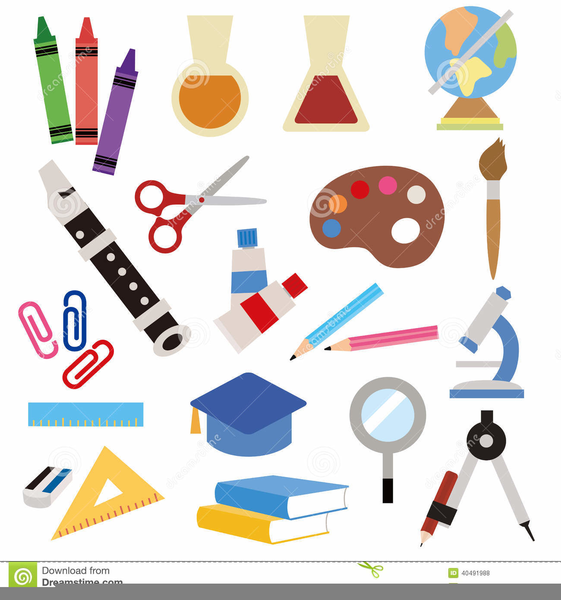 Stationery clipart images clip art black and white stock Clipart School Stationery | Free Images at Clker.com ... clip art black and white stock