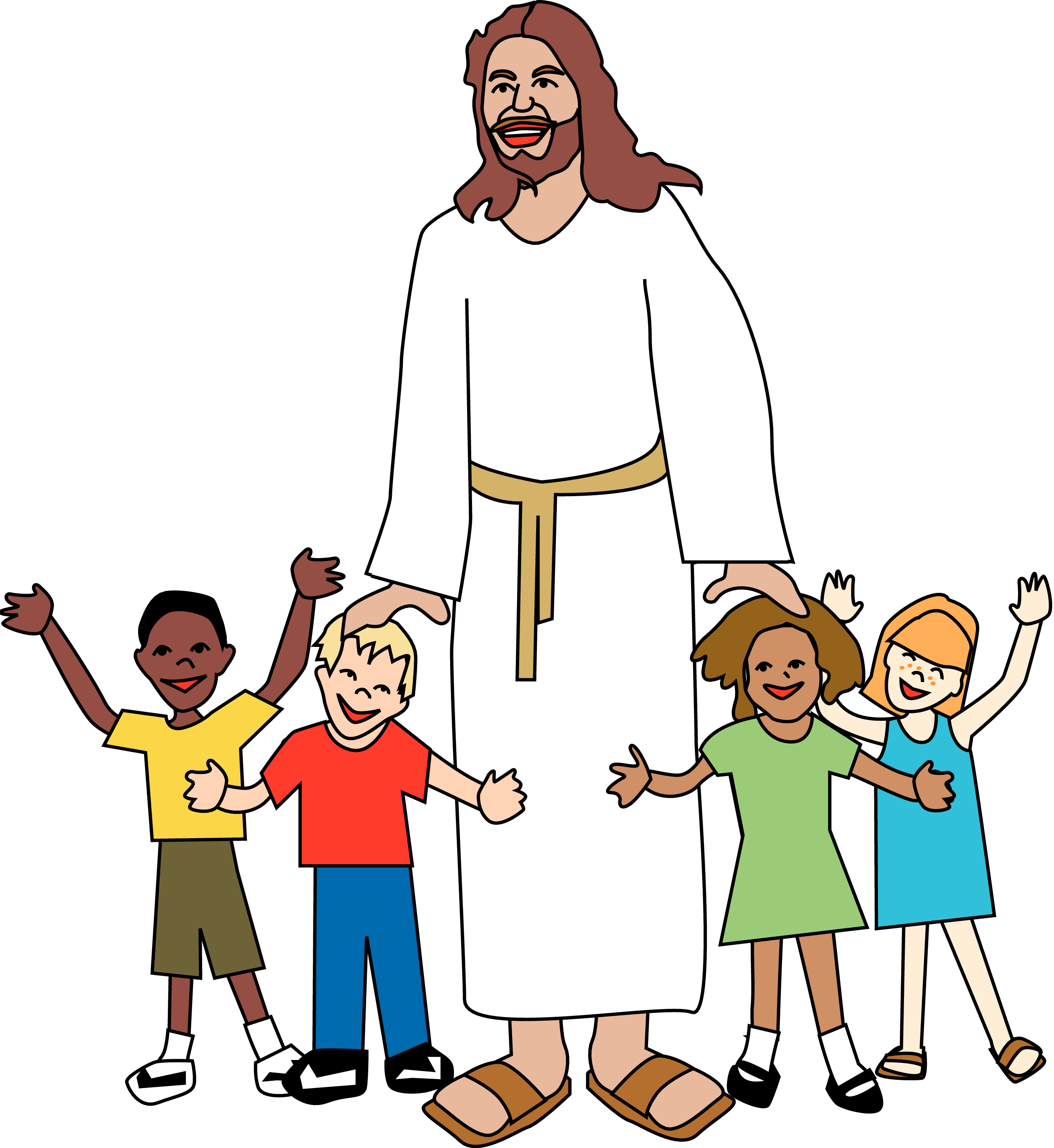 Stations of the cross clipart for children vector black and white download Jesus With Children Clipart at GetDrawings.com | Free for personal ... vector black and white download