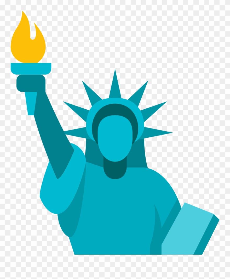 Statue icon clipart svg Statue Of Liberty Icon - Liberty Icon Png Clipart (#569030 ... svg