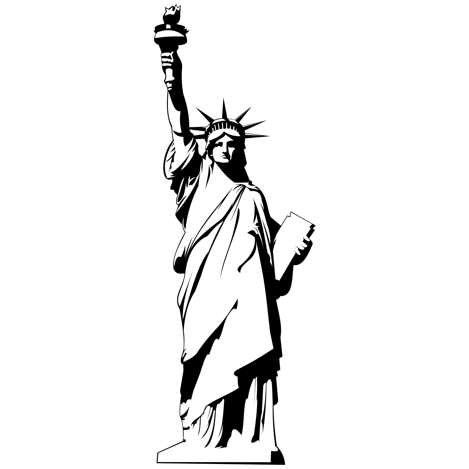 Statue icon clipart vector black and white Statue Of Liberty Icon Png #219080 - Free Icons Library vector black and white