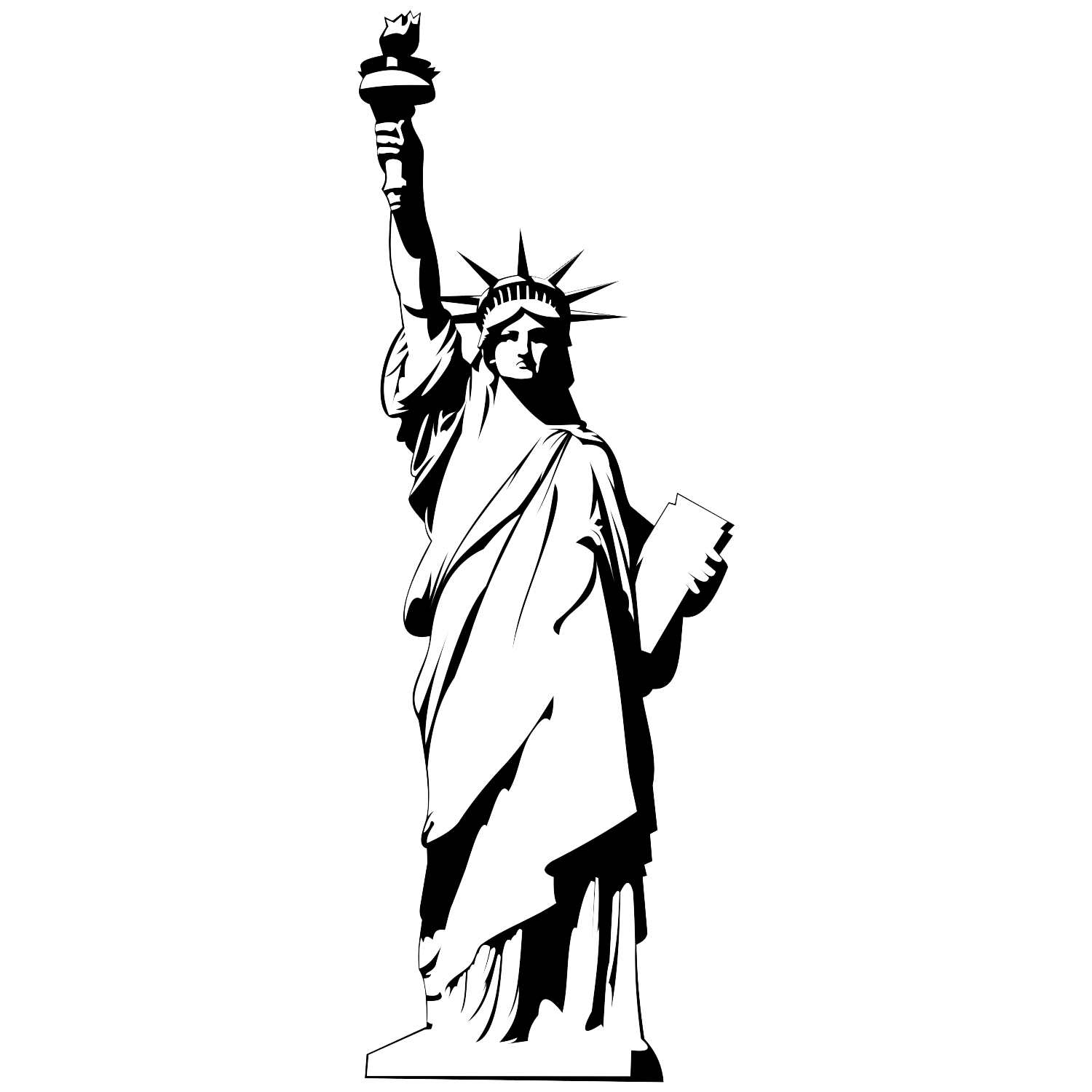 Statue liberty clipart svg library download Statue of liberty clipart png 1 » Clipart Portal svg library download