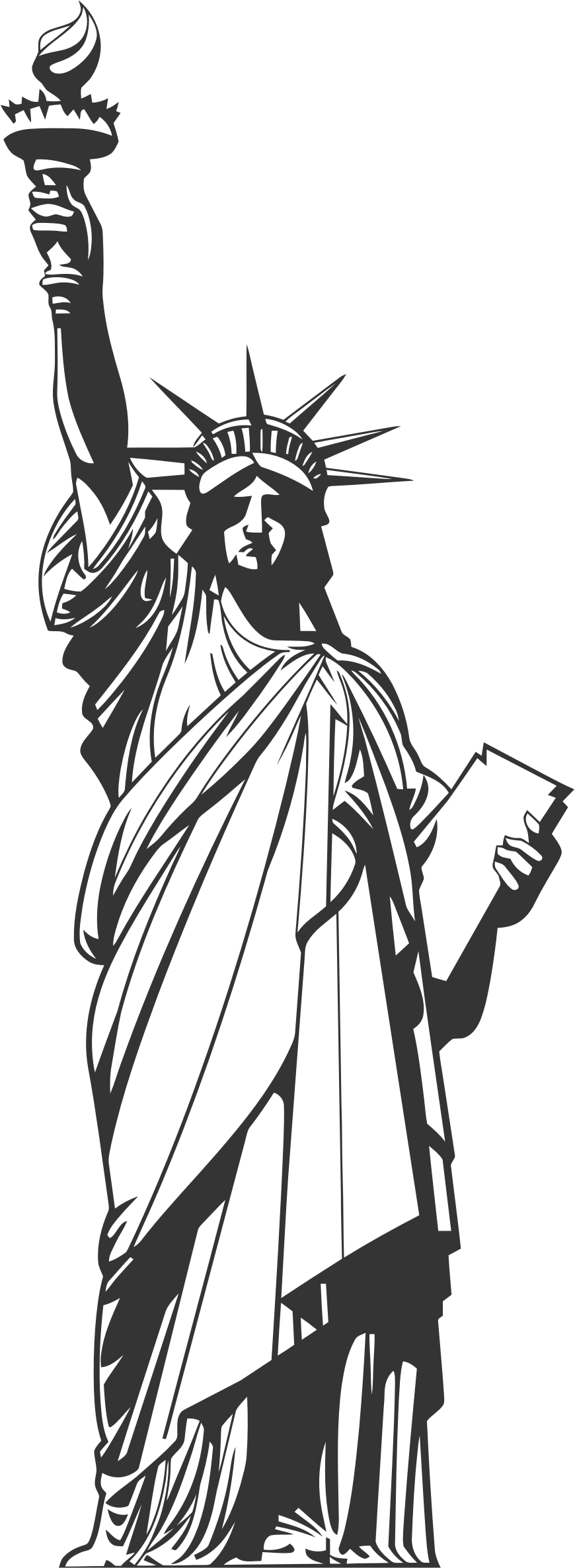 Statue of liberty crown clipart image free download 28+ Collection of Statue Of Liberty Line Drawing | High quality ... image free download