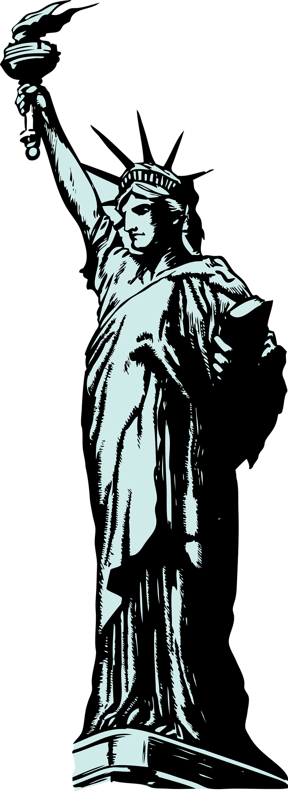 Statue of liberty crown clipart banner download Statue Clipart at GetDrawings.com | Free for personal use Statue ... banner download