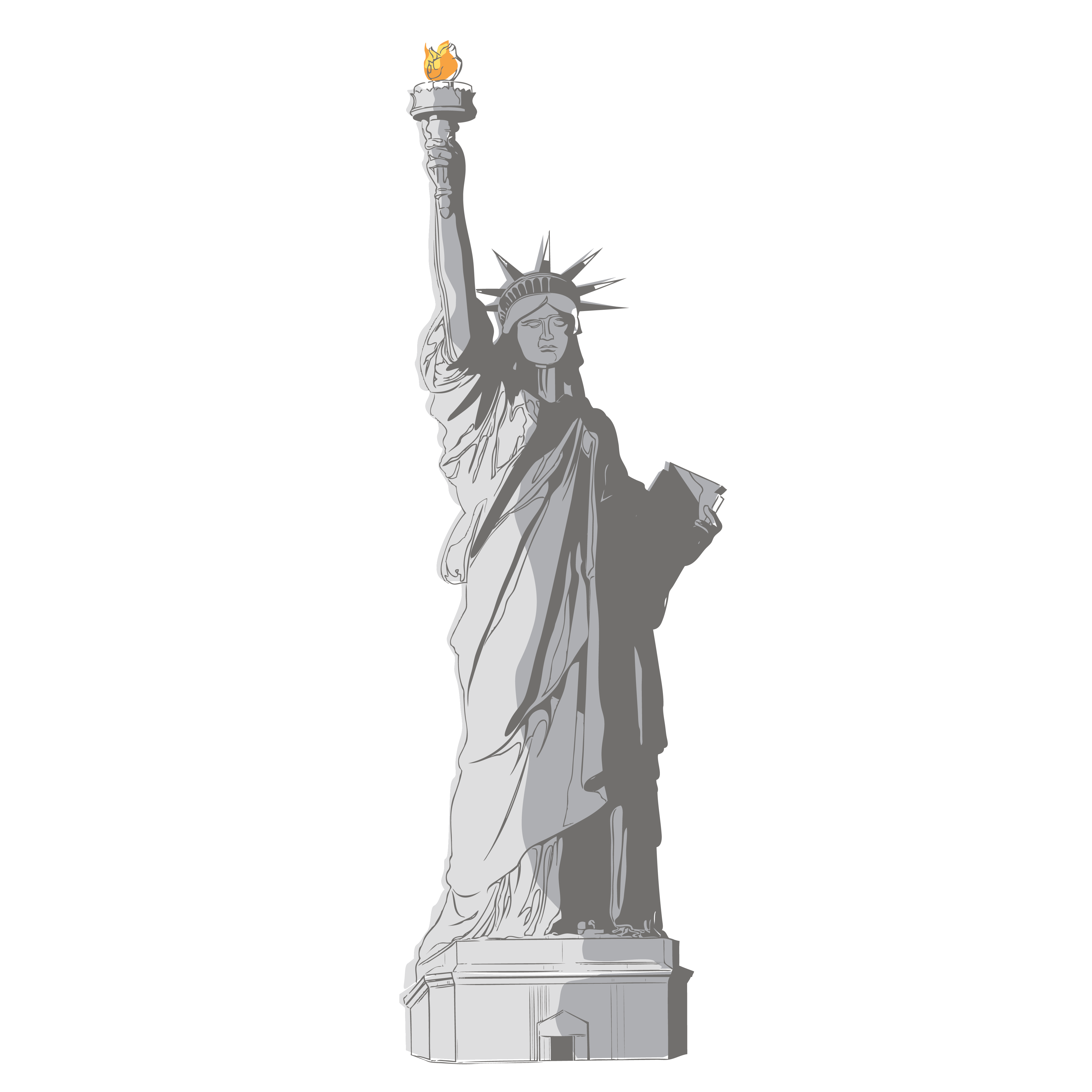 Statue of liberty independence day black and white clipart graphic transparent download Free PNG USA Independence Day | Konfest graphic transparent download
