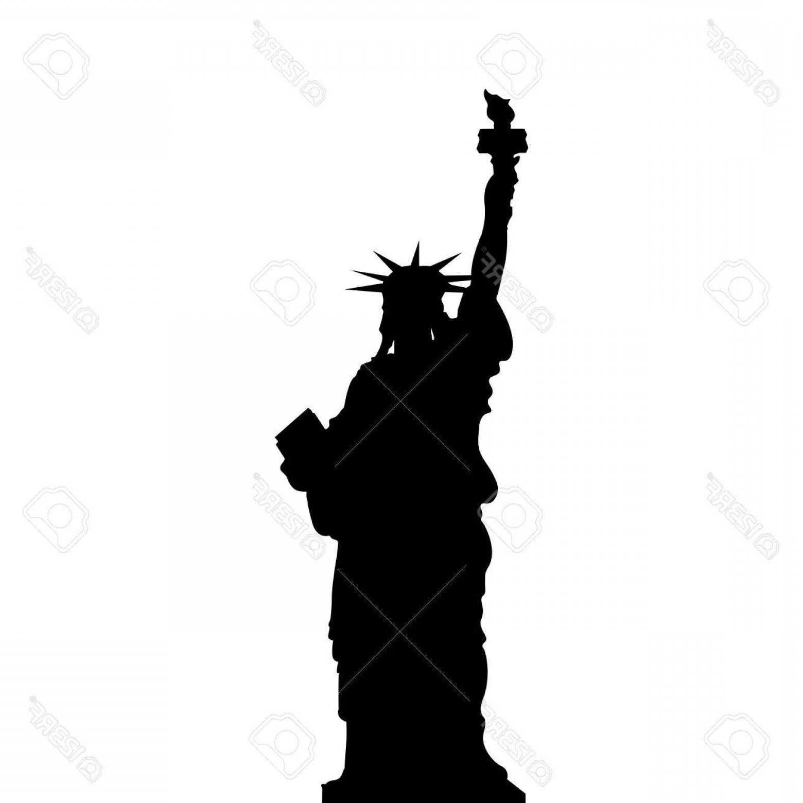 Statue of liberty independence day black and white clipart image library Photostock Vector Statue Of Liberty New York Usa Simple ... image library