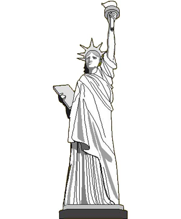 Statue of liberty independence day black and white clipart clip art free Free Statue Of Liberty Images Black And White, Download Free ... clip art free