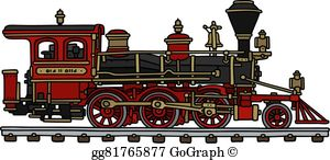 Steamengine clipart freeuse stock Steam Locomotive Clip Art - Royalty Free - GoGraph freeuse stock