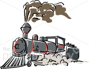 Steamengine clipart banner royalty free stock Gray Steam Engine Clipart | Baby Vehicle Clipart banner royalty free stock