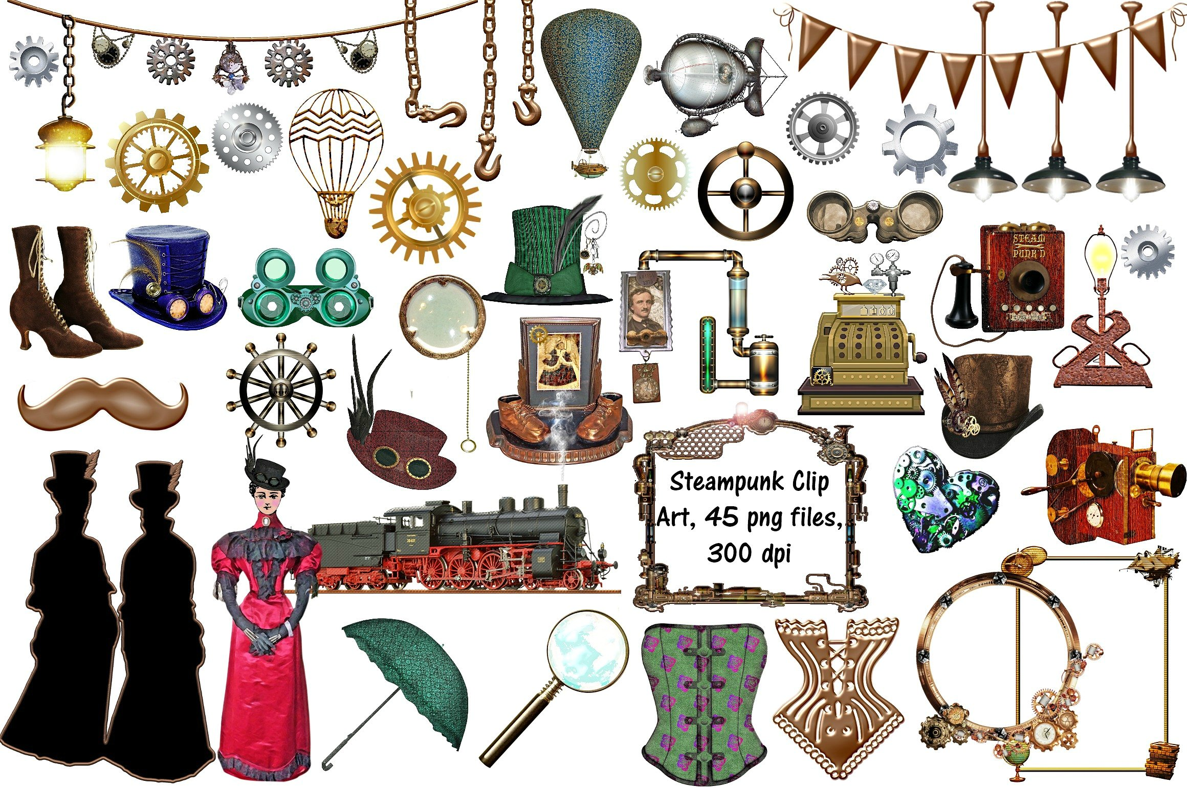 Steampunk clipart illustrations clip free download Steampunk clipart - 198 transparent clip arts, images and ... clip free download
