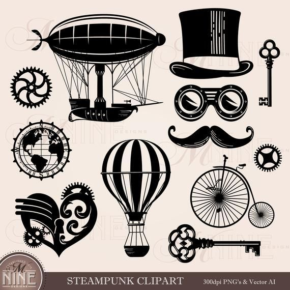 Steampunk fashion clipart