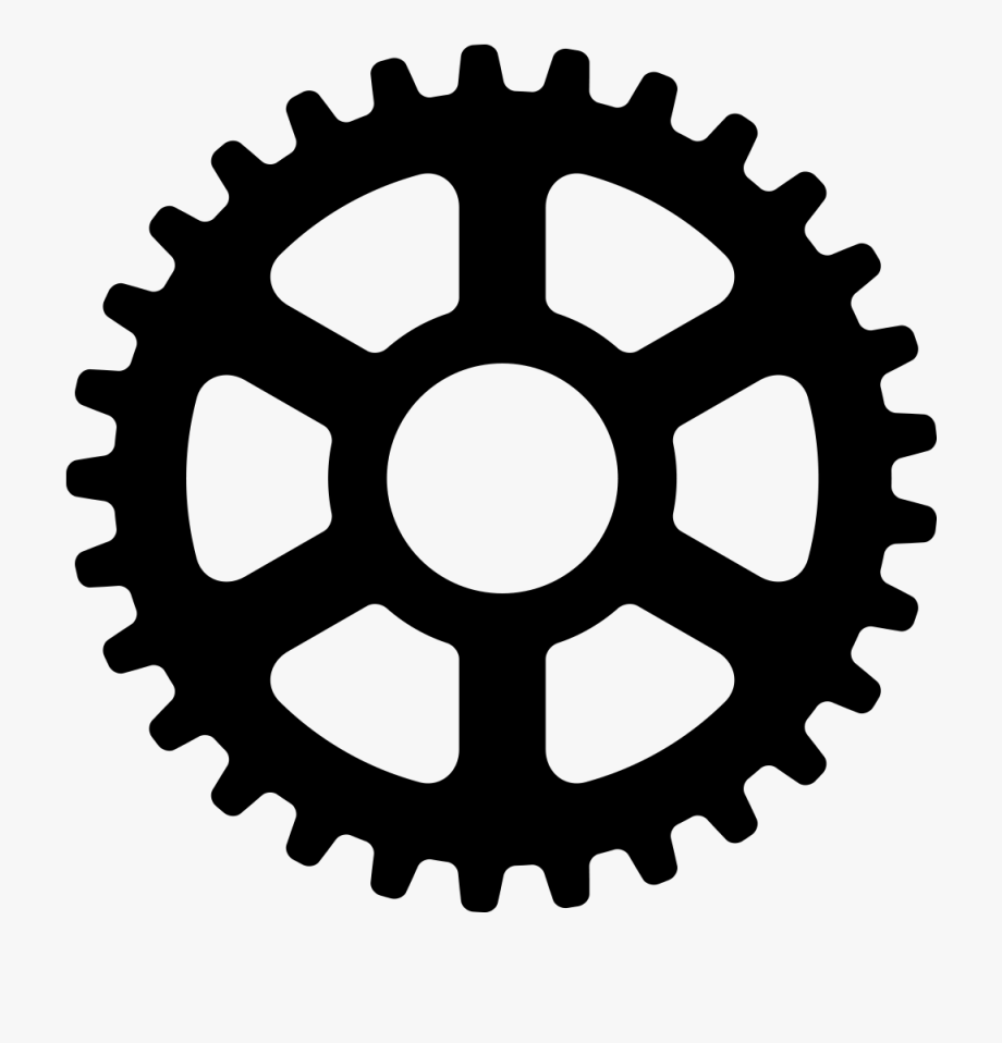Steampunk gears clipart no background black and white image freeuse Gear Clipart Bicycle Gear - Transparent Background Gear Logo ... image freeuse