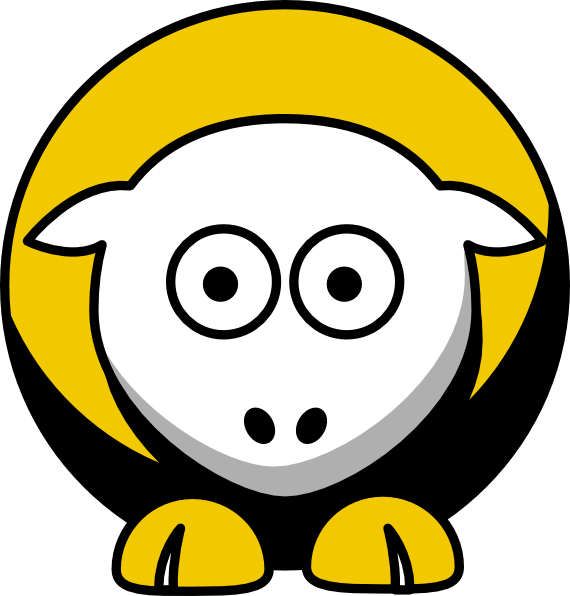 Steelers football clipart picture transparent stock Sheep 3 Toned Pittsburgh Steelers Team Colors Clip Art at Clker.com ... picture transparent stock