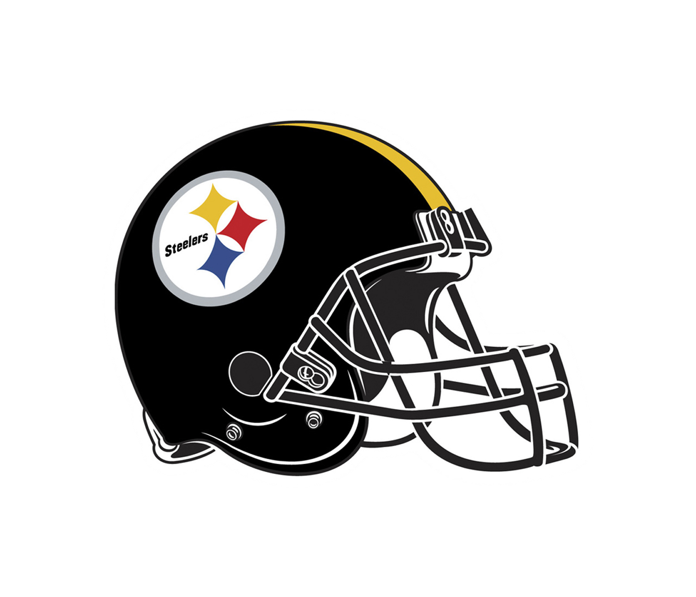 Steelers football helmet clipart svg free stock Pittsburgh Steelers Logo PNG Transparent & SVG Vector - Freebie Supply svg free stock
