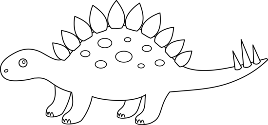 Stegosaurus clipart free
