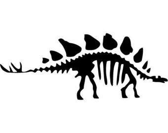 Stegosaurus skeleton silhouette clipart picture freeuse Stegosaurus Dinosaur Fossil - LARGE - Vinyl Wall Decal ... picture freeuse