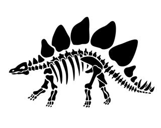 Stegosaurus skeleton silhouette clipart svg freeuse library Stegosaurus Skeleton Decal Sticker svg freeuse library