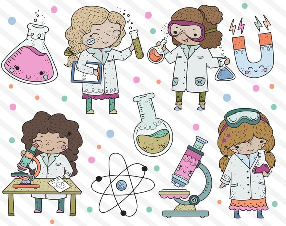 Image result for girl rock science stem clip art
