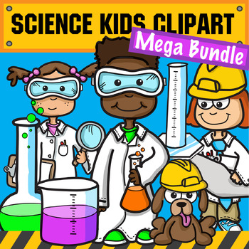 Stem science clipart svg free library Science & STEM Kids Clipart - Mega Bundle svg free library