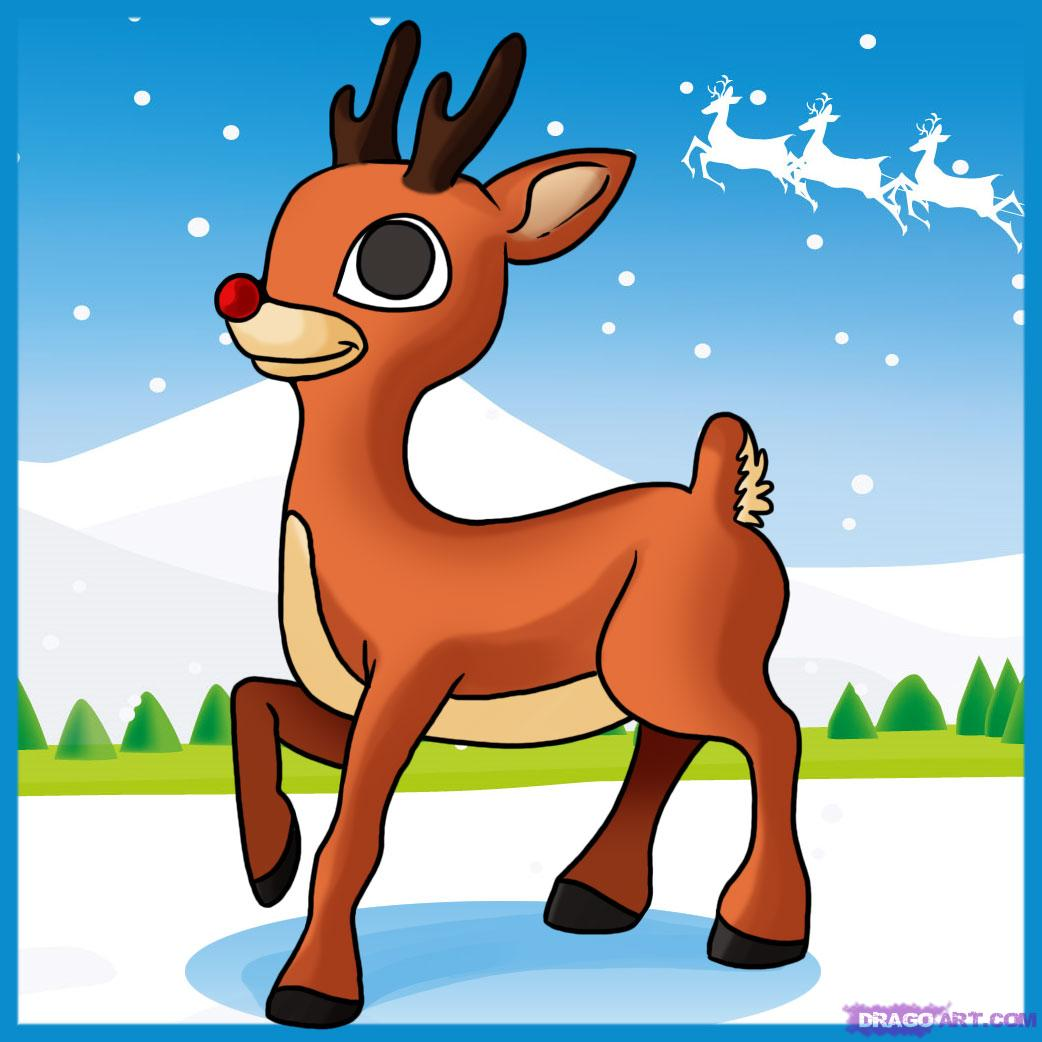 Step side clipart clip art stock How to Draw Rudolph the Red Nosed Reindeer, Step by Step ... clip art stock