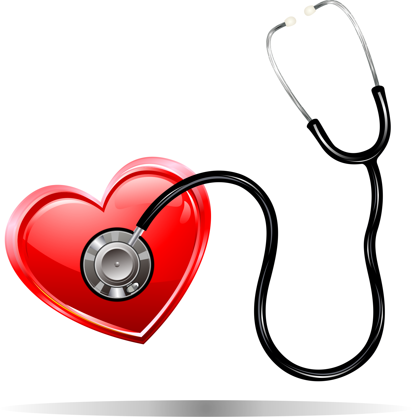 Stethoscope clipart vector heart image library download Medicine Euclidean vector Heart Element - Listen to the heart of the ... image library download