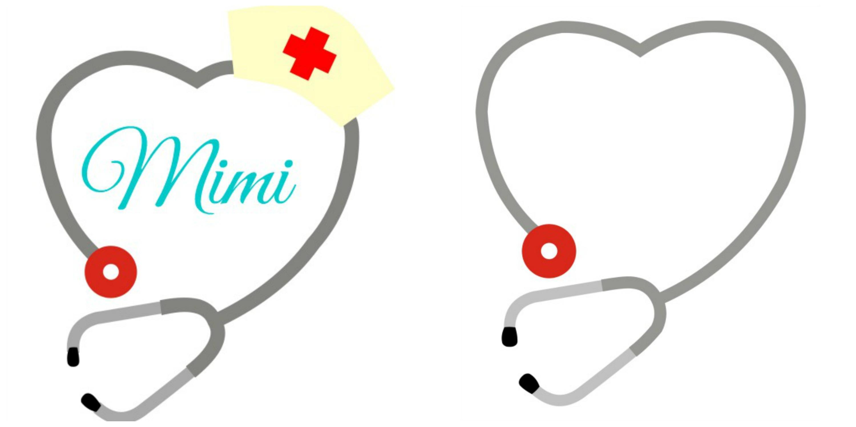 Stethoscope monogram clipart clipart free stock Stethoscope Heart Monogram Frames clipart free stock