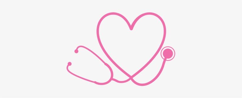 Stethoscope monogram clipart image black and white stock Heart Stethoscope Monogram - Nurse Mouse Pads Transparent ... image black and white stock