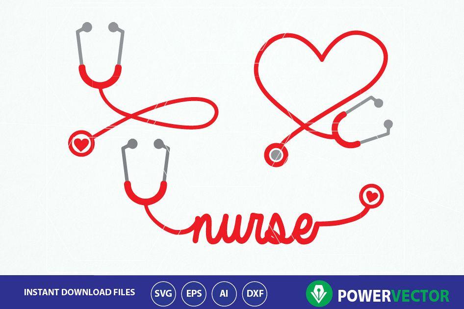 Stethoscope monogram clipart clipart free stock Stethoscope SVG, Nurse Word Art Svg. Nurse Heart Monogram Frame,  Stethoscope Heart Clipart Vector clipart free stock