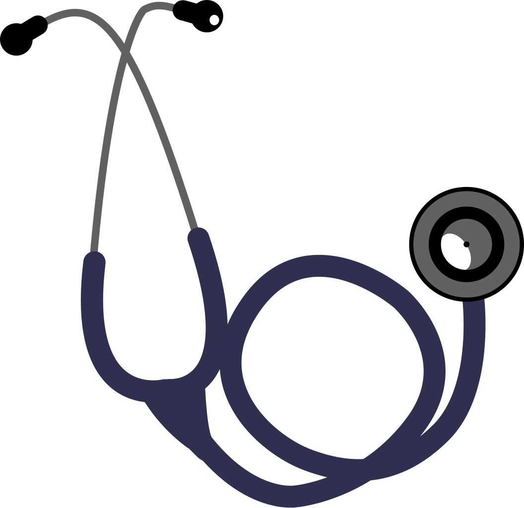 Stethoscope with heart clipart clipart black and white download File:Single head stethoscope.svg - Wikimedia Commons clipart black and white download