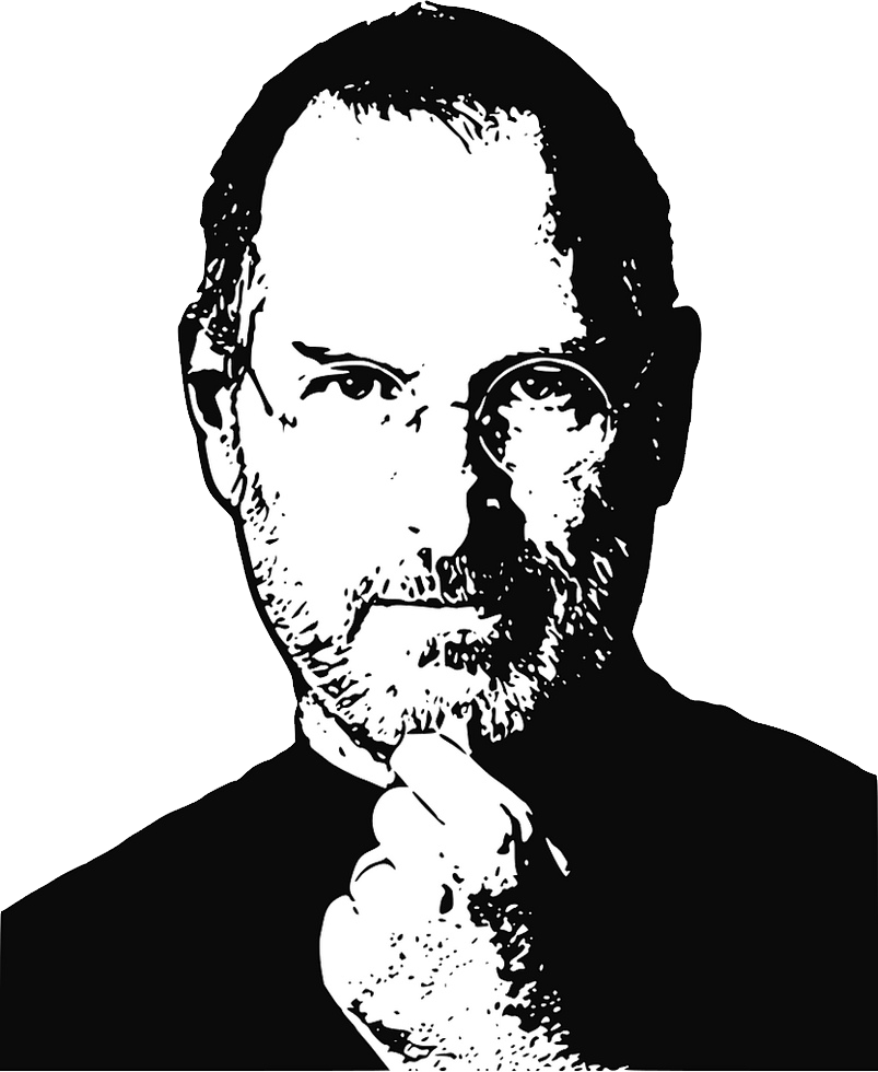 Steve jobs line drawing clipart black and white clip art free download Steve Jobs PNG images free download clip art free download