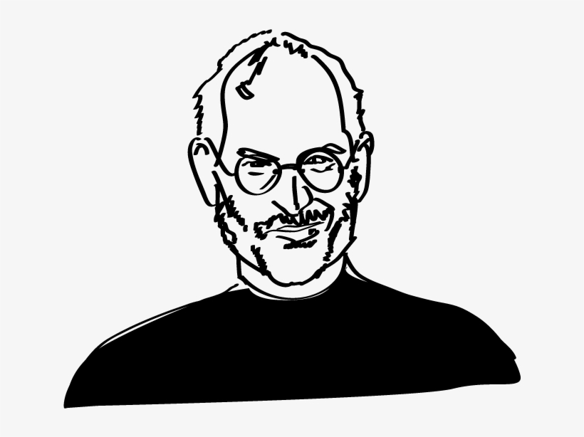 Steve jobs line drawing clipart black and white vector stock Steve Jobs Coloring Page - Steve Jobs Line Drawing ... vector stock