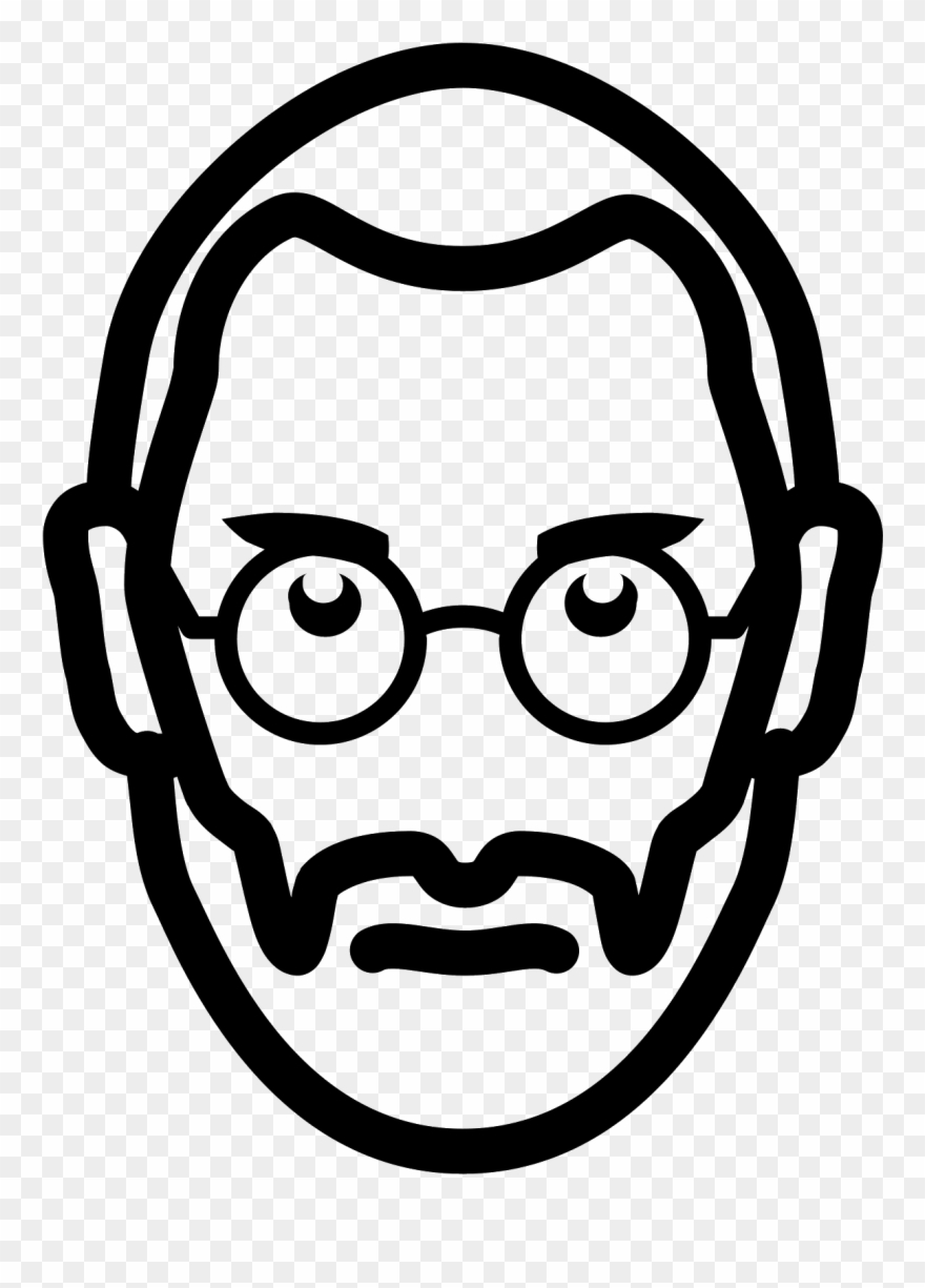 Steve jobs line drawing clipart black and white png royalty free library Steve Jobs Icon Clipart (#687039) - PinClipart png royalty free library