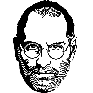 Steve jobs line drawing clipart black and white picture black and white library Download Free png steve jobs clipart - DLPNG.com picture black and white library