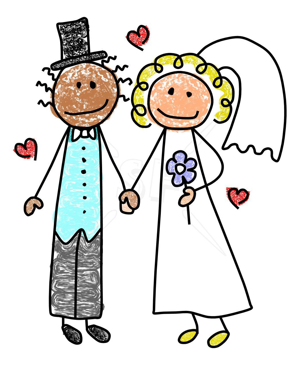 Stick bride and groom clipart png transparent library groom | Cute Bride & Groom Stick Figures Clip Art | Stick ... png transparent library