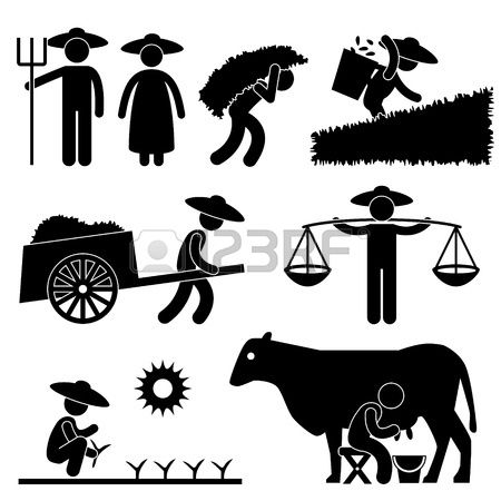 Stick farmer clipart clip royalty free library Stock Vector | Cartoon | Pictogram, Cow illustration, Farm ... clip royalty free library