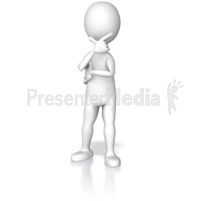 Stick figure clipart for powerpoint jpg free library Stick Figure In Deep Thought - Presentation Clipart - Great ... jpg free library