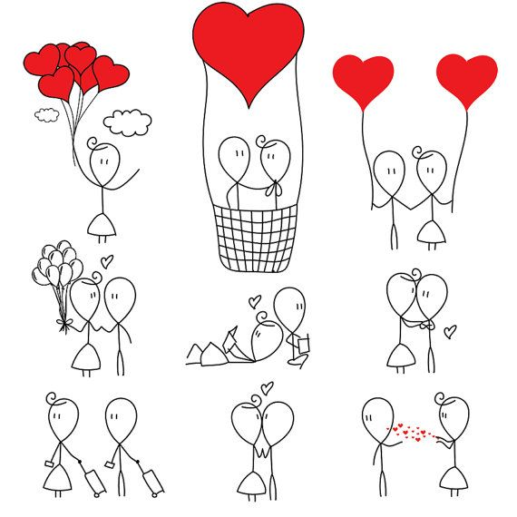 Stick figure love clipart picture black and white Stick Figure Clipart Clip Art Love Stick People by ... picture black and white