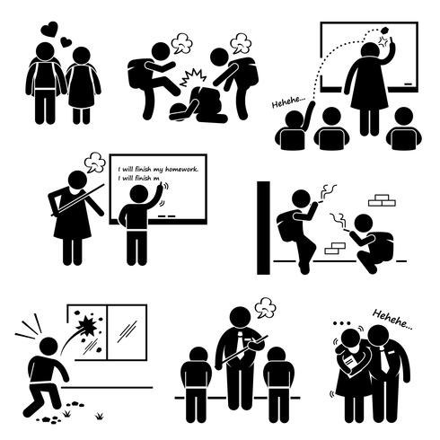 Stick person outstanding clipart image library library School Education Social Problem Student Teacher Stick Figure ... image library library