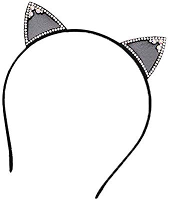 Stick girl with long hair with cats clipart graphic stock Amazon.com: Women Girl Cat Ear Rhinestone Headband Halloween ... graphic stock