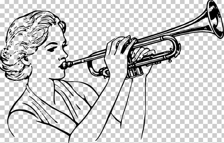 Stick man with trumpet clipart black and white image stock Trumpeter Musician Bugle PNG, Clipart, Arm, Artwork ... image stock
