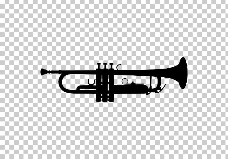 Stick man with trumpet clipart black and white clip art royalty free Trumpet Silhouette Music PNG, Clipart, Black And White ... clip art royalty free