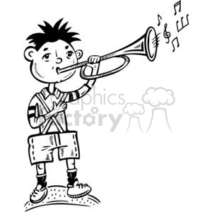 Stick man with trumpet clipart black and white svg royalty free trumpet clipart - Royalty-Free Images   Graphics Factory svg royalty free
