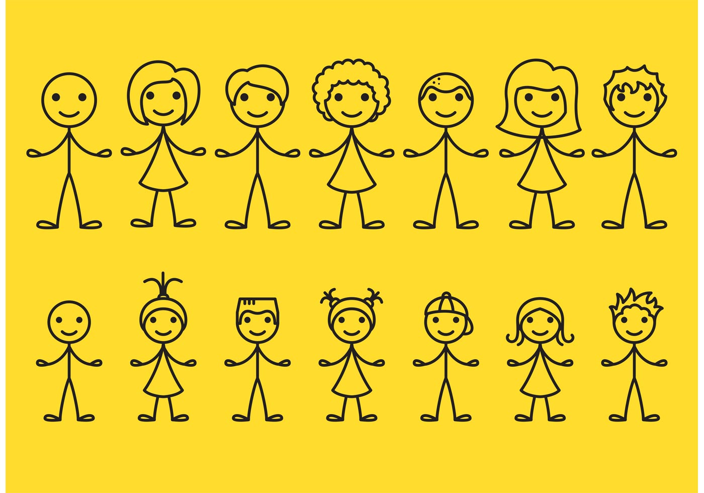 Stick person outstanding clipart