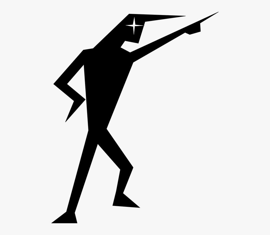 Stick person silhouette clipart