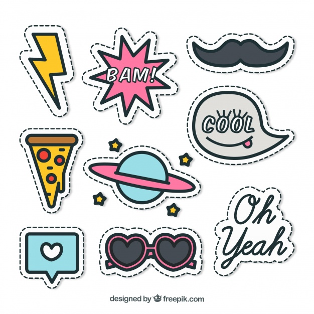 Sticker line clipart pack download clip freeuse Nice pack of stickers Vector | Free Download clip freeuse