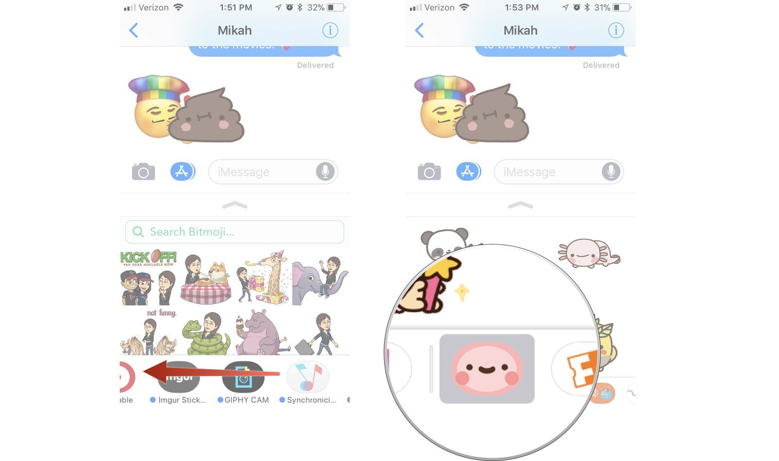 Sticker line clipart pack download transparent stock How to use sticker and apps in iMessage on iPhone and iPad ... transparent stock