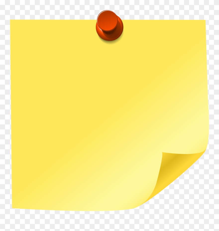 Sticky note clipart svg library stock Yellow Sticky Note Png Clip Art - Yellow Note Png ... svg library stock