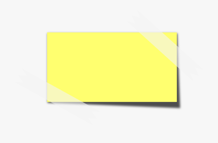 Sticky note clipart image free stock Clipart Sticky Note - Post It Shape Png #327369 - Free ... image free stock