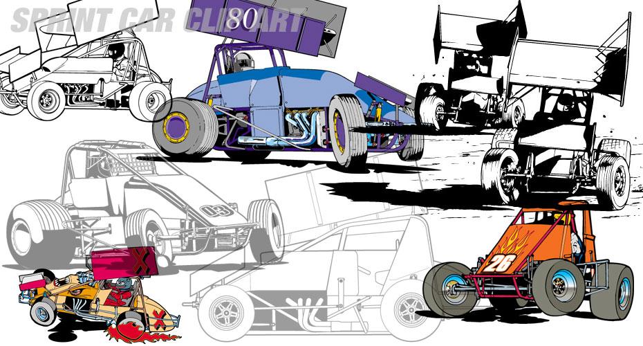 Stock car clipart jpg royalty free stock Outlaw Sprint Kart Clipart - Clipart Kid jpg royalty free stock
